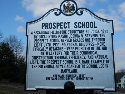 Prospect School Marker image. Click for full size.
