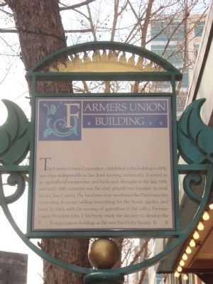 Farmers Union Building Marker image. Click for full size.