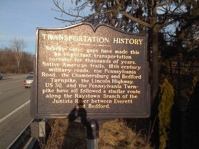 Transportation History Marker image. Click for full size.
