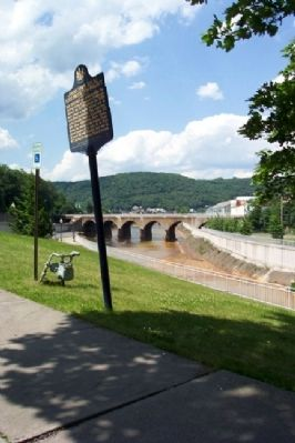 Johnstown Local Flood Protection Project Marker image. Click for full size.