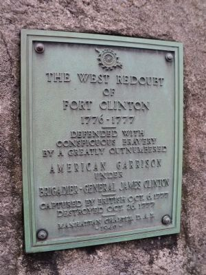 West Redoubt of Fort Clinton Marker image. Click for full size.