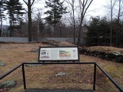 Fort Clinton's Outer Redoubt Marker image. Click for full size.