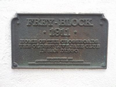 Frey Block Plaque image. Click for full size.