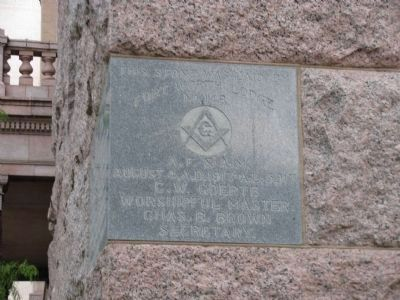 Masonic Hall Stone image. Click for full size.