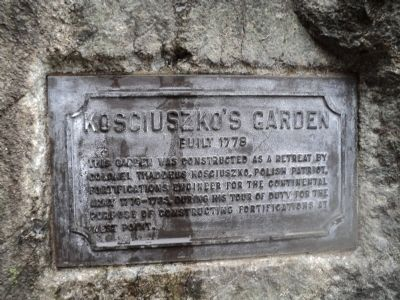 Kosciuszko�s Garden Marker Photo, Click for full size