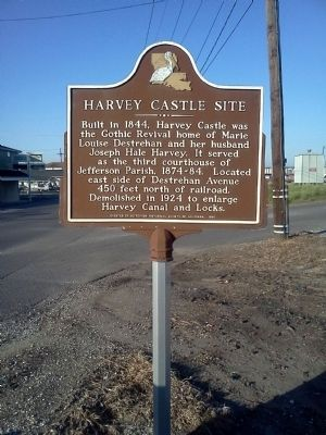 Harvey Castle Site Marker image. Click for full size.