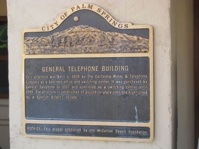 General Telephone Building Marker image. Click for full size.