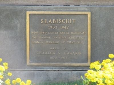 Seabiscuit Marker image. Click for full size.