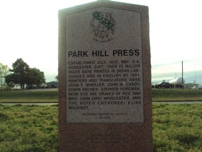 Park Hill Press Marker image. Click for full size.