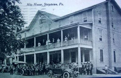 Hite House Postcard Photo on Highway Enterprise Marker image. Click for full size.