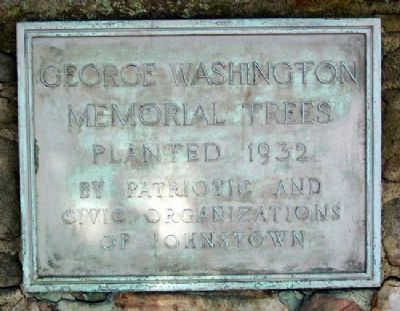 George Washington Memorial Trees Marker image. Click for full size.