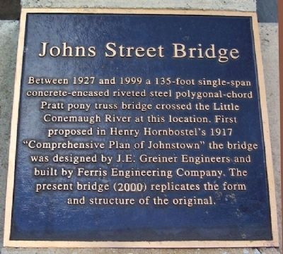Johns Street Bridge Marker image. Click for full size.