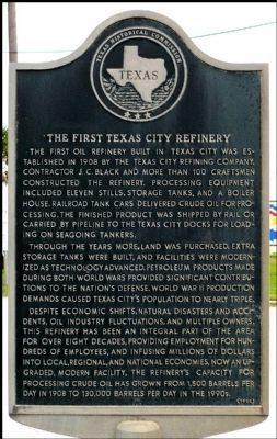 The First Texas City Refinery Marker image. Click for full size.