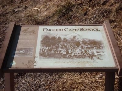 English Camp School Marker image. Click for full size.