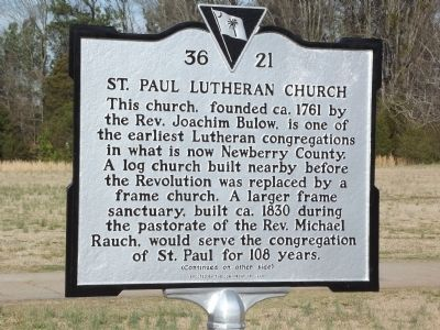 St. Paul Lutheran Church Marker image. Click for full size.
