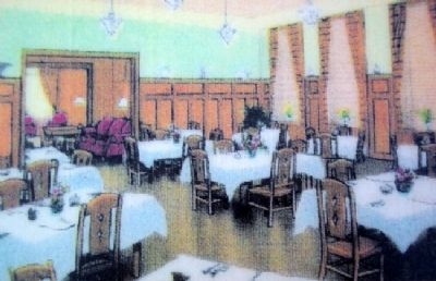 Penn-Eben Hotel Dining Room Photo on Marker image. Click for full size.