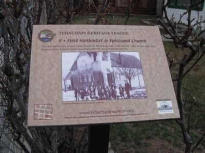 First Methodist & Episcopal Church Marker image. Click for full size.