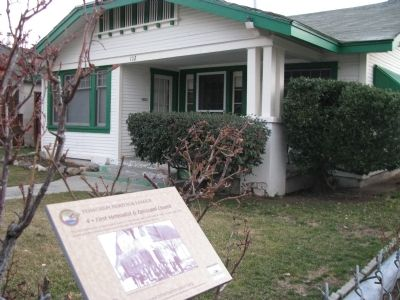 First Methodist & Episcopal Church Marker & Home image. Click for full size.