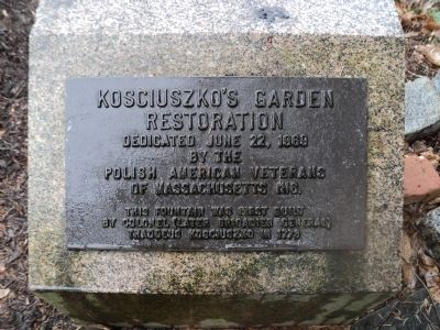 Kosciuszko�s Garden Restoration Marker Photo, Click for full size