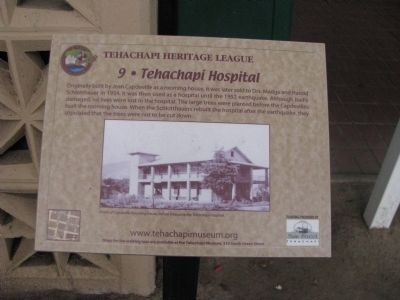 Tehachapi Hospital Marker image. Click for full size.