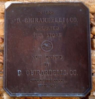 D. Ghirardelli & Co. Marker image. Click for full size.