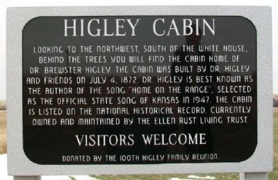 Higley Cabin Marker image. Click for full size.