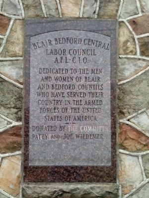 Blair Bedford Central Labor Council AFL-CIO Military Memorial-plaque 2 image. Click for full size.