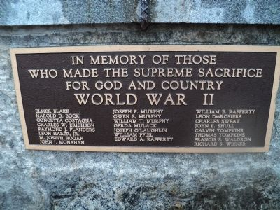 Highland Falls World War II Memorial Marker image. Click for full size.