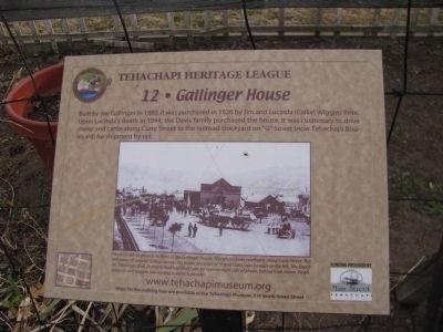 Gallinger House Marker Photo, Click for full size