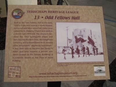 Odd Fellows Hall Marker Photo, Click for full size