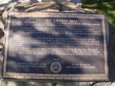 Mission Corral Site Marker image. Click for full size.