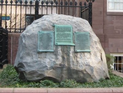 The First Meeting of Washington and Rochambeau Marker image. Click for full size.