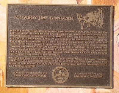 """Cowboy Jim"" Donovan Marker image. Click for full size."