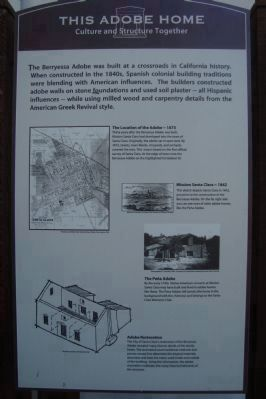The Berryessa Adobe Marker image. Click for full size.