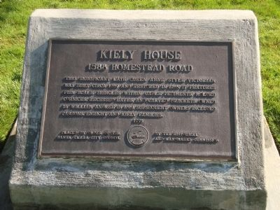 Kiely House Marker image. Click for full size.