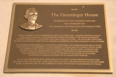 The Greeninger House Marker image. Click for full size.