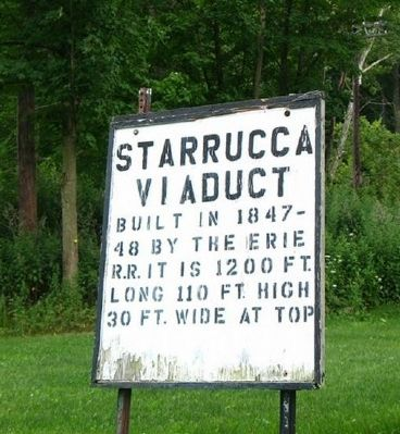 Starrucca Viaduct Old Sign image. Click for full size.