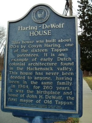 Haring - DeWolf House Marker image. Click for full size.
