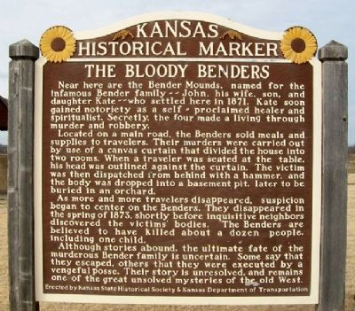 The Bloody Benders Marker image. Click for full size.