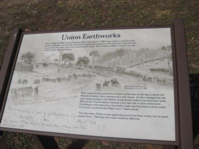 Union Earthworks Marker image. Click for full size.