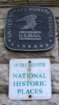 Post Office NRHP Marker image. Click for full size.