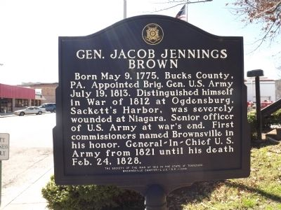 Gen. Jacob Jennings Brown Marker image. Click for full size.