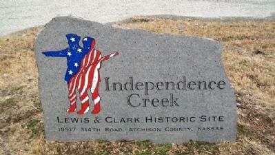 Independence Creek Sign image. Click for full size.