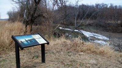 """this day being...the 4th of July"" Marker and Independence Creek image. Click for full size."