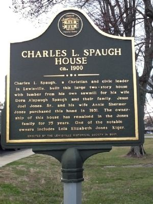 Charles L. Spaugh House Marker image. Click for full size.