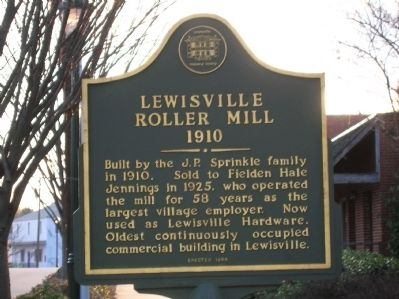 Lewisville Roller Mill Marker image. Click for full size.