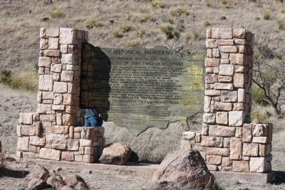 History of Trek Through Mountains Marker image, Click for more information