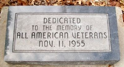 All American Veterans Marker image. Click for full size.