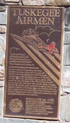 Tuskegee Airmen Marker Photo, Click for full size
