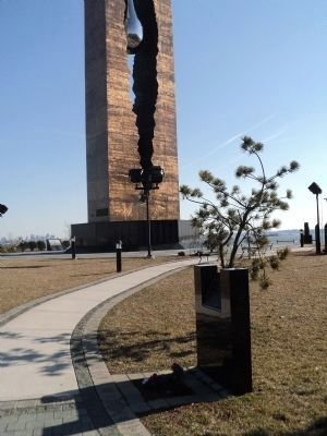 Marker in Harbor View 9/11 Memorial Park image. Click for full size.